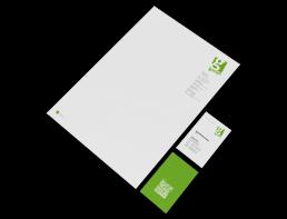 Design Büroausstattung GAXSYS Briefpapier und Visitenkarten, GAXWEB Werbeagentur und Internetagentur in Karlsruhe