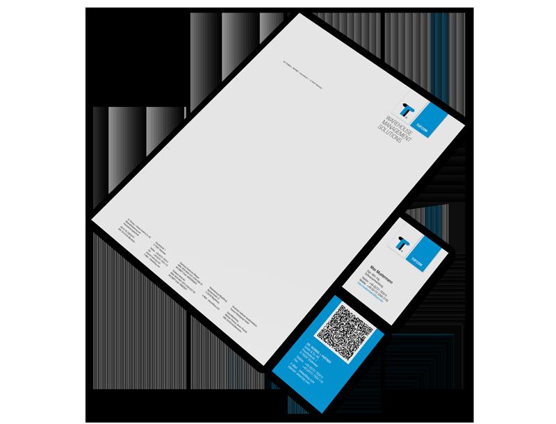 Design Büroausstattung TUP Briefpapier und Visitenkarten Design Büroausstattung, GAXWEB Werbeagentur und Internetagentur in Karlsruhe