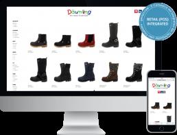 Monitor und Smartphone zeigt die corporate website von daeumling kinderschuhe Onlineshop Software, webentwicklung, GAXWEB Werbeagentur und Internetagentur in Karlsruhe