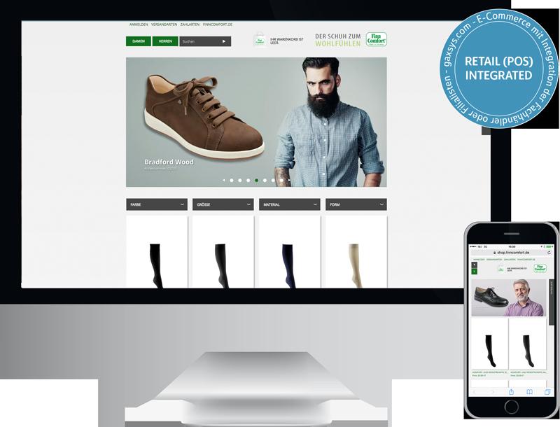 finn comfort onlineshop gesundheitsschuhe onlineshop, mobile website, finn comfort Gesundheitsschuhe logo Online Marketing, GAXWEB Werbeagentur und Internetagentur in Karlsruhe