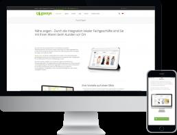 Monitor und Smartphone zeigt die corporate website von gaxsys e-commerce mit haendlerintegration, design, konzept, webentwicklung, GAXWEB Werbeagentur und Internetagentur in Karlsruhe
