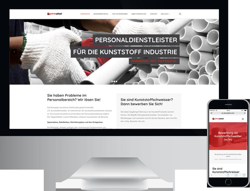Persoplast Corporate CMS Website, GAXWEB GmbH Werbeagentur und Internetagentur Karlsruhe