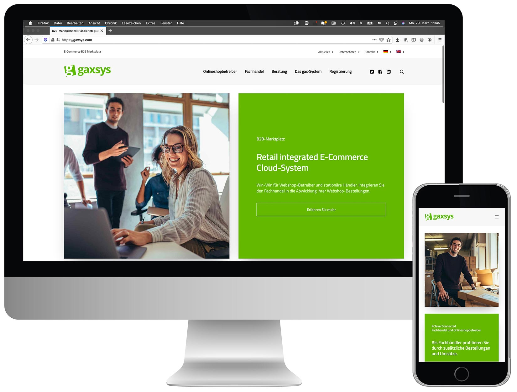 gaxsys ecommerce händlerintegration